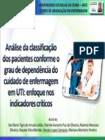 Analise Da Classificacao Dos Pacientes Conforme o Grau de Dependencia Do Cuidado de Enfermagem Em Uti Enfoque Nos Indicadores Criticos