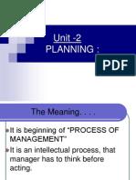 Unit 2 Planning