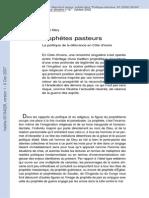 Politique de La Delivrance. Polaf 2002