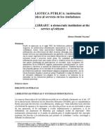 120913_Curzano_La biblioteca pública- institución democrática al servicio de los ciudadanos