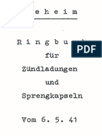 """""""D460/5+"""" Ringbuch fur Zundladungen und Sprengkapseln vom 6.5.41"""