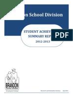 2012-13 Student Achievement Summary Report