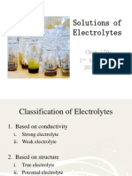 Solutions of Electrolytes
