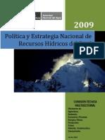 Política y estrategia nacional de recursos hídricos