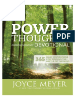 Power Thoughts Devotional, Joyce Meyer - Excerpt