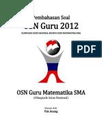 Pembahasan Soal OSN Guru Matematika SMA 2012 Tingkat Provinsi