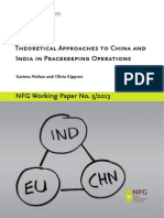 Theoretical Approaches to Understanding China and India in Peacekeeping Operations