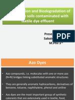 azo dye biobegredation