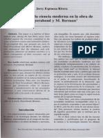 La Critica de La Ciencia Moderna en La Obra de P. Fedeyerabend y M. Berman