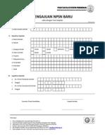 Formulir a1-1(1) Pengajuan Npsn