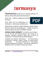 Chaturmasya - English