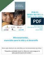 Nutricion de Micronutrientes Unicef Minsa