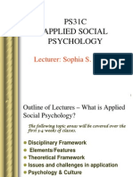 Lecture - Applied Social Psychology.ppt