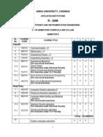 EIE syllabus regulation 2008