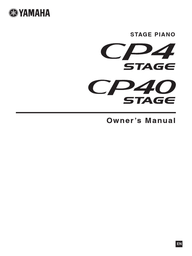 Yamaha Cp4 Cp40 Owners Manual Ac Power Plugs And Sockets Fc5 Pedal Wiring Diagram Electrical Connector