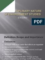 Multidisciplinary Nature of Environment Studies