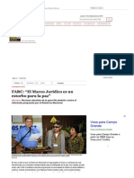 FARC El Marco Jurídico es un estorbo para la paz