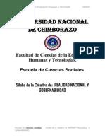 SÍLABO DE REALIDAD NACIONAL Y GOBERNABILIDAD1