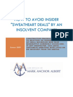 "How To Avoid Insider ""Sweetheart Deals"" By Insolvent Companies"