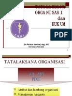 tata laksana organisasi dan hukum rakor PDGI jakarta 2009
