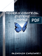 Modern Control System Notes