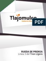 Posicionamiento sobre la construcción de la línea 3 del Tren Ligero (Presentación)