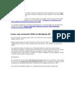 Crear una conexión VPN en Windows XP