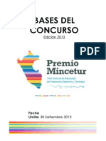 Bases Concurso Premio Mincetur 2013