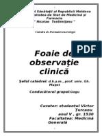 Foaie de Observatie Clinica - Dermatologie