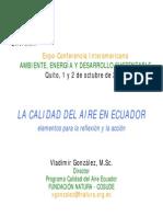 Vladimir Gonzalez-La Calidad Del Aire en Ecuador