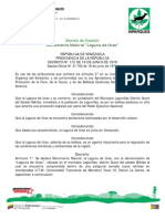 Decreto Nº 172 Laguna de Urao