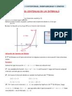 Teoremas de continuidad, derivabilidad y límites con ejemplos y aplicaciones-