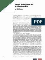 Williams-Top 10 Principles-reading (1986)