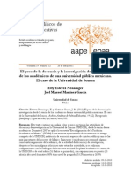 Estévez Nenninger, E. y Martínez García, J. M. (2011) El peso de la docencia y la investigación desde la visión de los académicos de una universidad pública mexicana