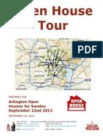 Open House Tour Arlington Virginia Sept 22