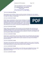 Proposed Amendments 1999
