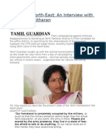 Life in the North-East an Interview With Ananthy Sasitharan