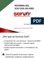 Reforma Del Servicio Civil en Peru