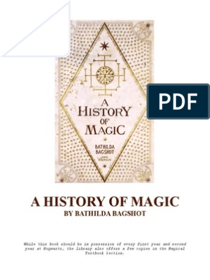 A History of Magic by Bathilda Bagshot | Magic (Paranormal