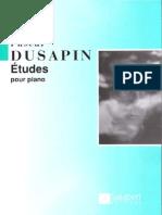 Dusapin, Pascal - Etudes Pour Piano
