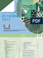 Catalogo de Normas 2012