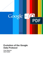 Evolution of the Google Data Protocol