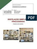 Relatório - Destilação fraccionada