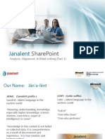 Janalent SharePoint Series -Analysis Alignment and Mind Setting (Part 1)