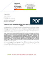 IOSDE Statement to Honduras, 19 September 2013