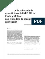 Escala Neuroticismo Costa y Mc Crae