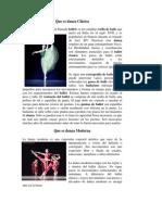 Que Es Danza Clasica y Moderna y Monologo