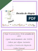 Receita de Alegria - Picassopps