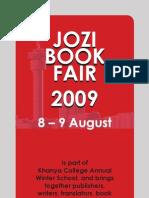 Jozi Book Fair 2009 - Brochure