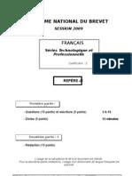 DNB Séries Techno et Prof Juin metropole